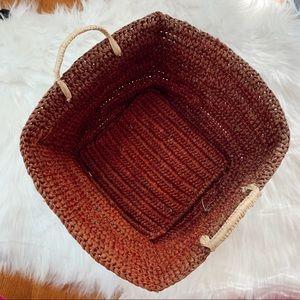 Boho Wicker Basket With Handles